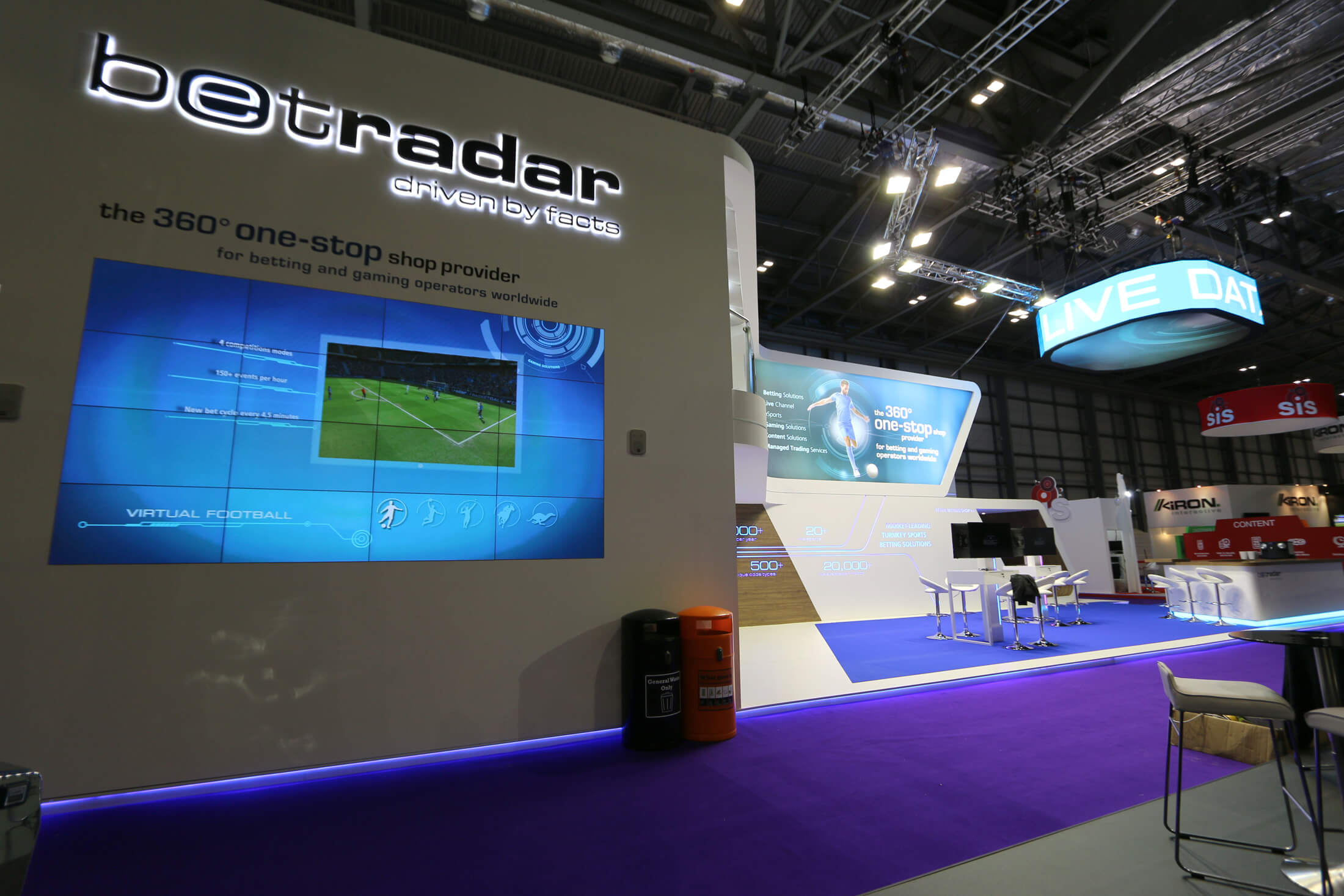 PPL Event Services Ltd Bet Radar Exhibition Stand